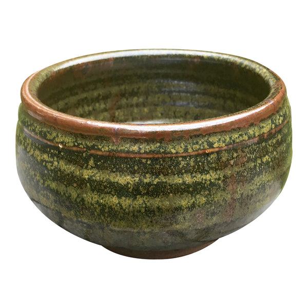 Handmade Pottery Cereal Bowl: Moss Green