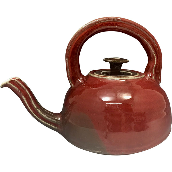 Handmade Pottery Barn Red Teapot