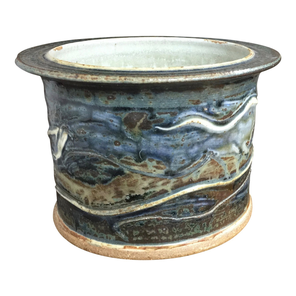 Handthrown Pottery Crock (S): Lake Superior Blue