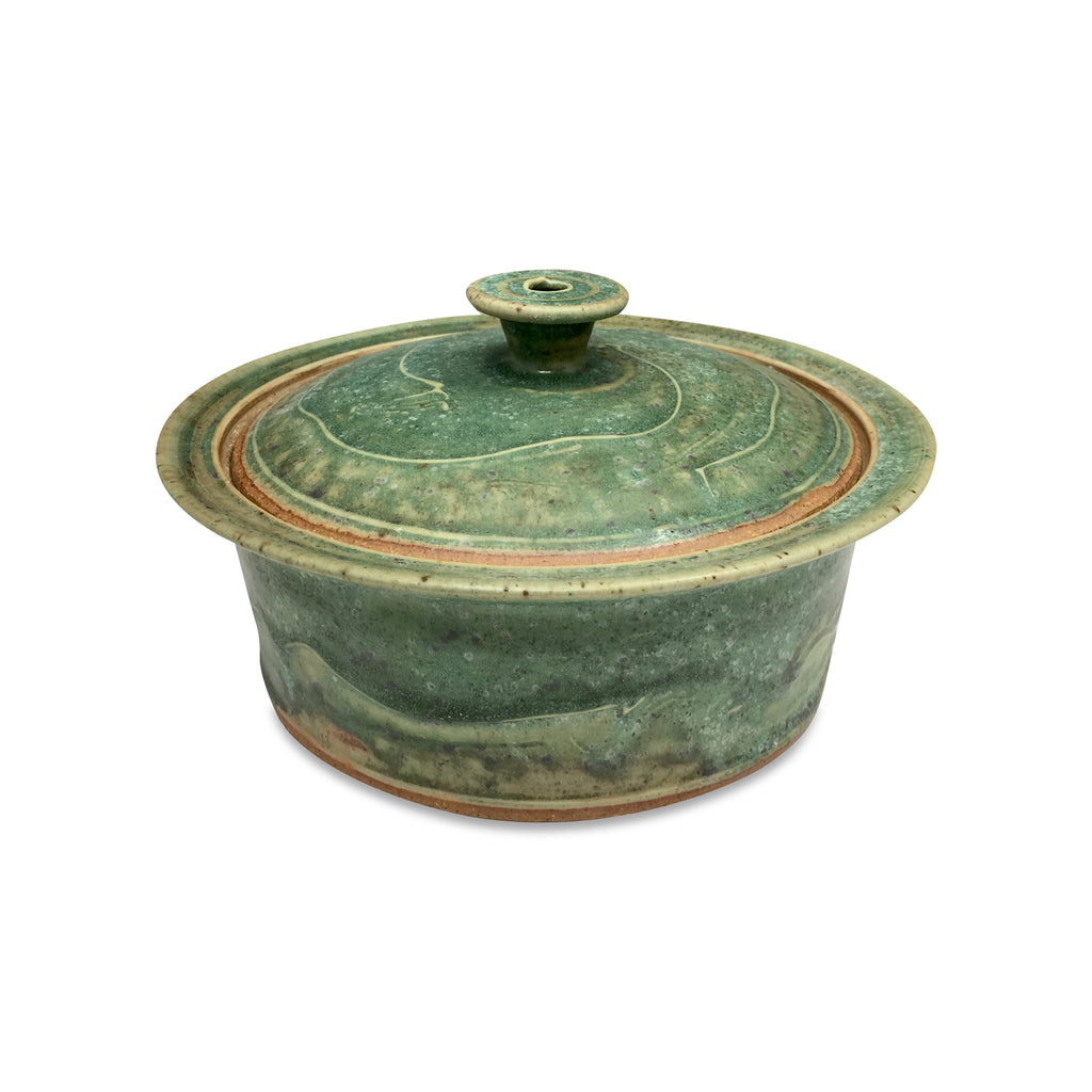 Handmade Pottery Medium Spring Green Baking Dish