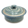 Handmade Pottery Large Blue and Green Baking Dish