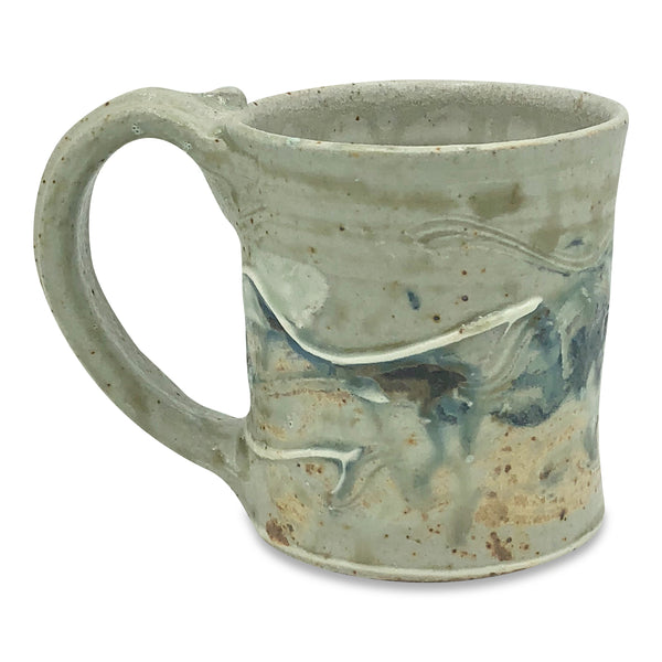 Handmade Short Mugs - Green Glazes
