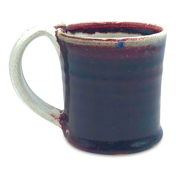 Handmade Pottery Cherry Red Short Mug