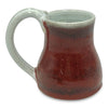 Handmade Pottery Barn Red Travel Mug