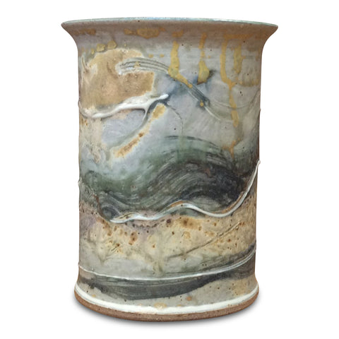Handthrown Pottery Crock (M): Door County Arbor Green
