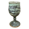 Handmade Pottery Door County Lichen Green Goblet