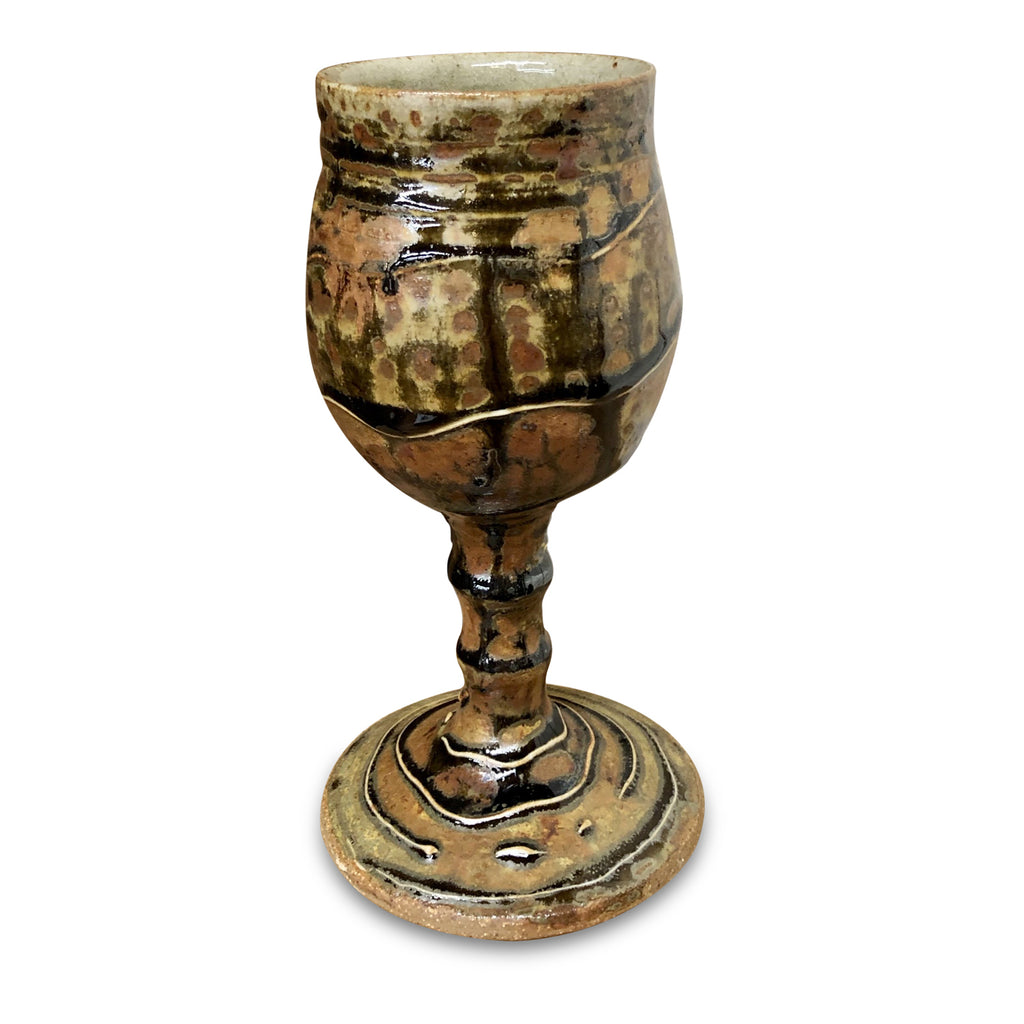 Handmade Pottery Goblet -Door County Red Pine