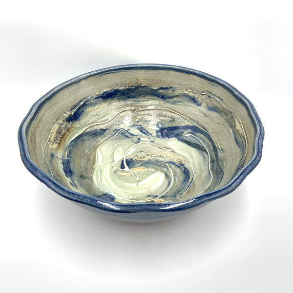 Handmade Pottery Bowl (M) - Door County Blue