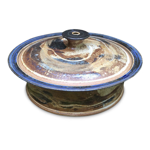Handmade Pottery Baking Dish (L): Door County Autumn Blue