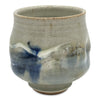 Handmade Pottery Sky Blue and Gray Tea Bowl