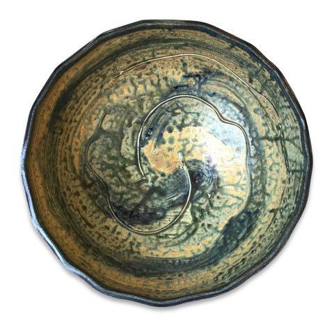 Lake Michigan Blue Handmade Bowl