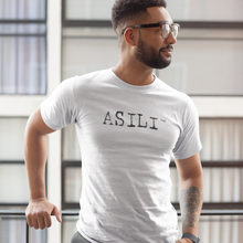 Load image into Gallery viewer, ASILI Mens T-Shirt - White and Black