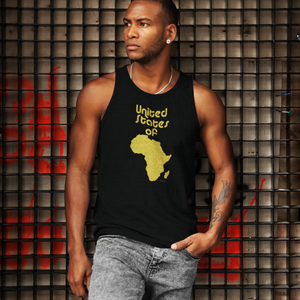 ASILI Mens USA Vest - Black & Gold