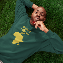 Load image into Gallery viewer, ASILI Unisex USA Sweatshirt - Green & Gold