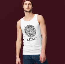Load image into Gallery viewer, ASILI Men's Fingerprint Vest - White and Black