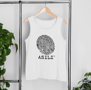 ASILI Men's Fingerprint Vest - White and Black