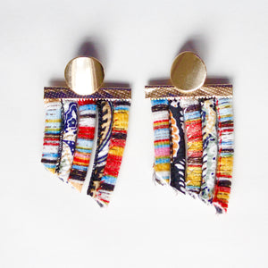 ZEAL - Multicolored Rope Statement Earrings – Orange