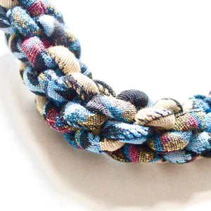 ZEAL - Multicoloured Rope Statement Necklace – Blue