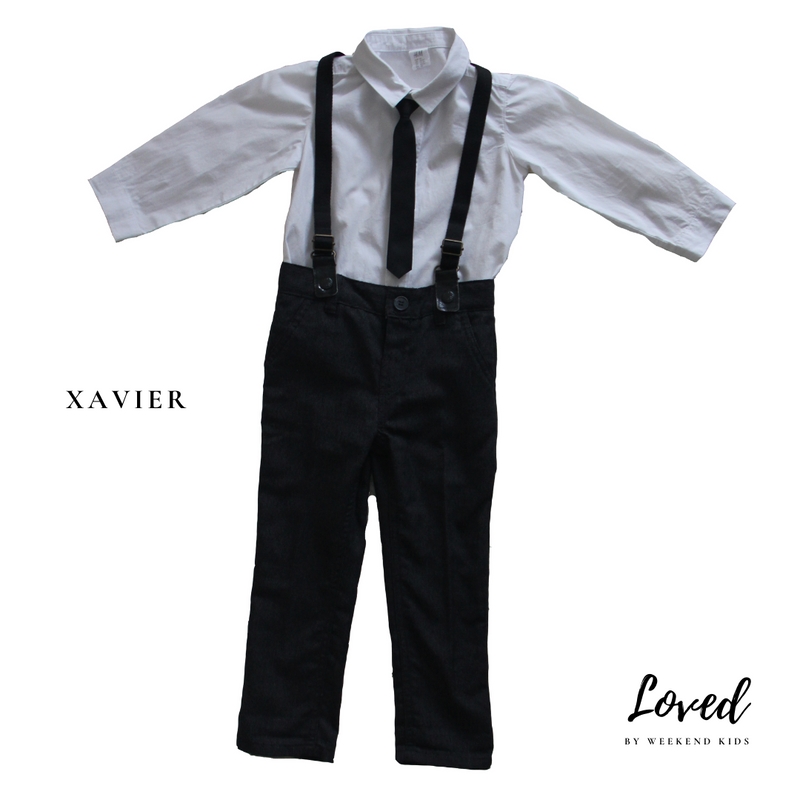 Xavier Suspenders Suit