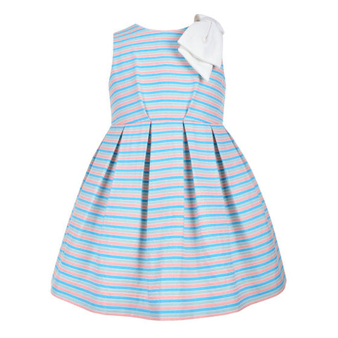 Multi Colour Stripe Bodice Dress