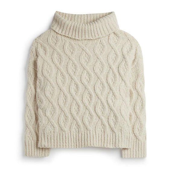 Cableknit Turtleneck Polo Jumper