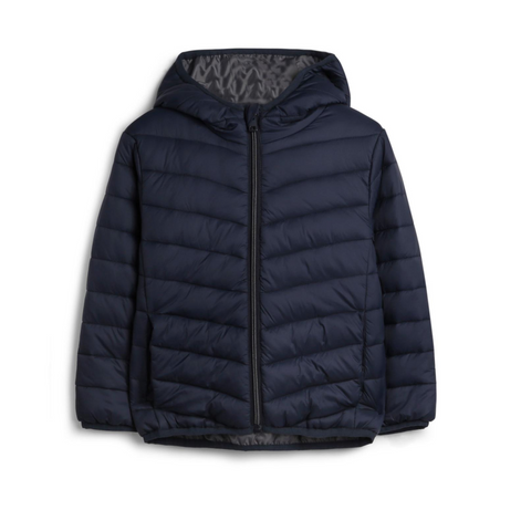 Ultra Light Weight Navy Puffer Jacket