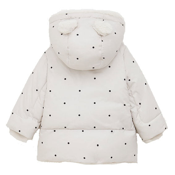Polka Dot Puffer Jacket