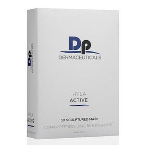 DP DERMACEUTICALS HYLA ACTIVE 3D SCULPTURED MASKS X 5