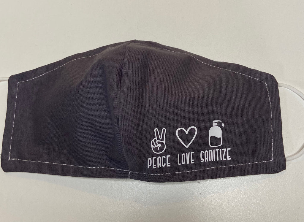Face Cover - Peace Love Sanitize