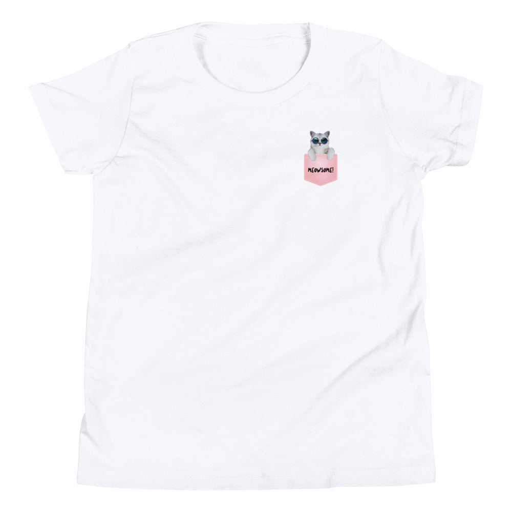 Cat in Pocket Youth T-Shirt - Reluctant Trendsetter