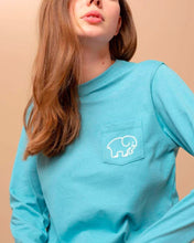 Load image into Gallery viewer, Ella Fit Doodle Long Sleeve Tee in Stillwater IVORY ELLA