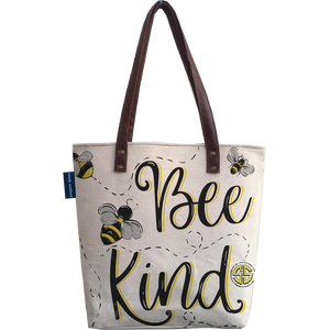 Bee Kind Canvas Tote Bag