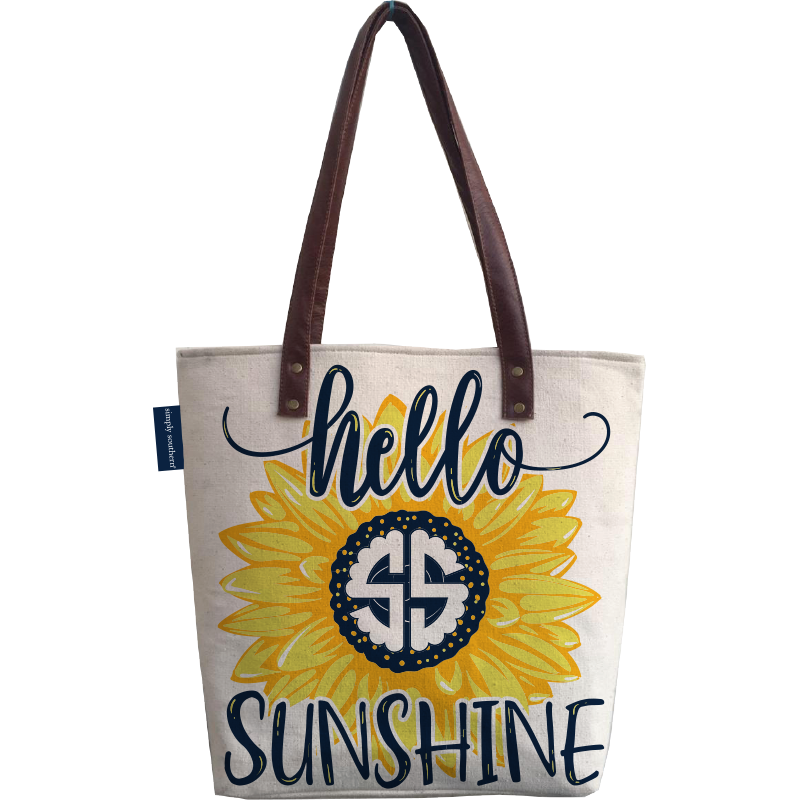 Hello Sunshine Canvas Tote Bag