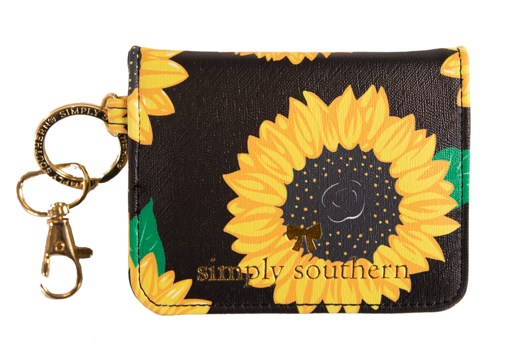 Leather Butterfly Style Sunflower Wallet Simply Southern