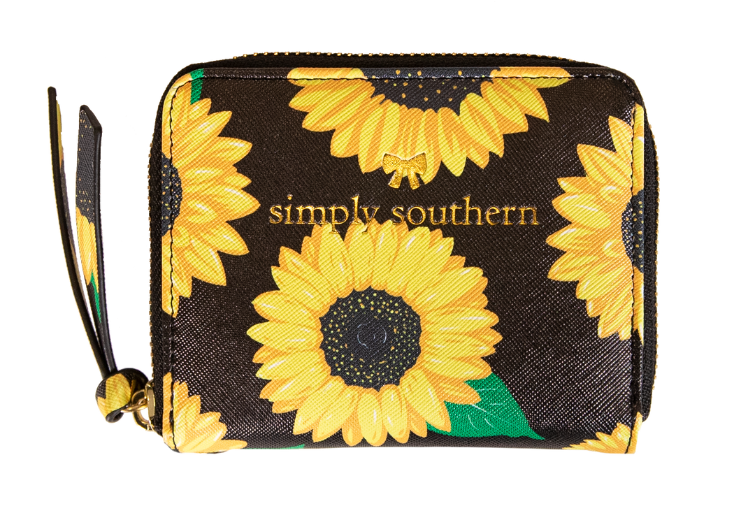 Leather Coin Style Wallet Sunflower Simply Southern