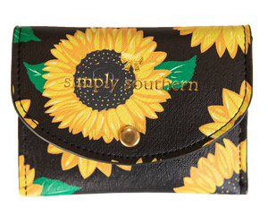 Sunflower Patterned Small Cardholder Simply Southern