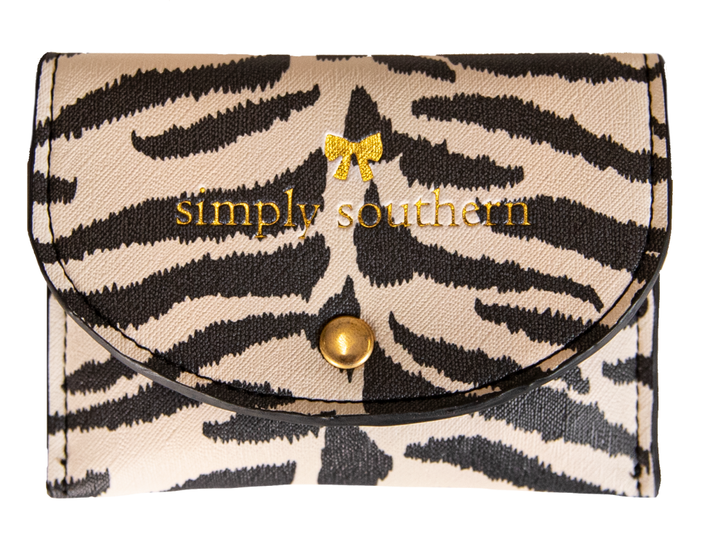 Zebra Patterned Small Cardholder Simply Southern