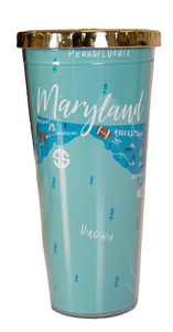 Maryland Simply Southern Tumbler with Lid/Straw