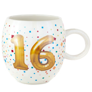 16th Birthday Balloon Mug