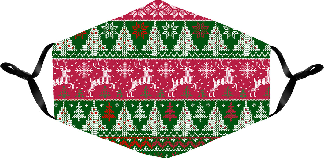 UGLY SWEATER HOLIDAY MASK