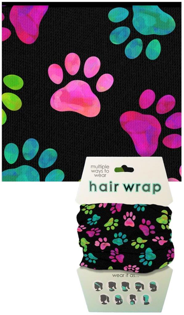 Paw Print Face Cover/Hair Wrap