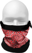 Load image into Gallery viewer, COLD WEATHER GAITER/HAT    RED BANDANA