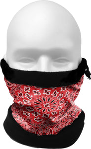 COLD WEATHER GAITER/HAT    RED BANDANA