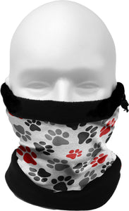 COLD WEATHER GAITER/HAT  PAWPRINTS