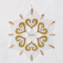 Load image into Gallery viewer, 2020 Snowflake Porcelain Ornament