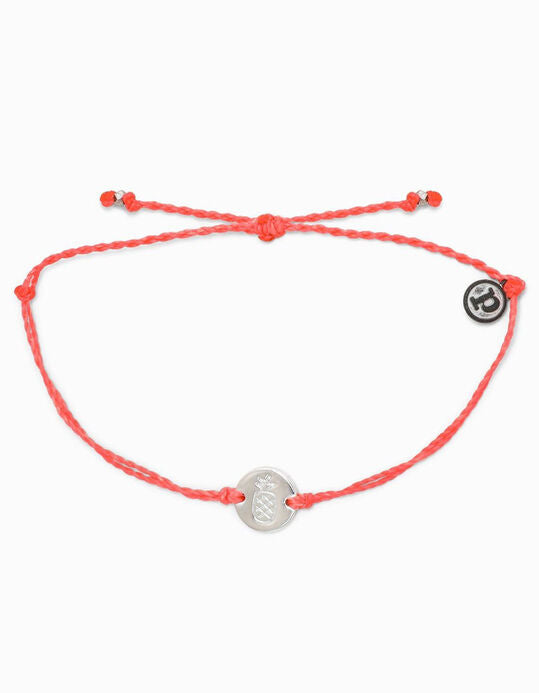 Pura Vida Pineapple Silver Coin Bracelet Strawberry