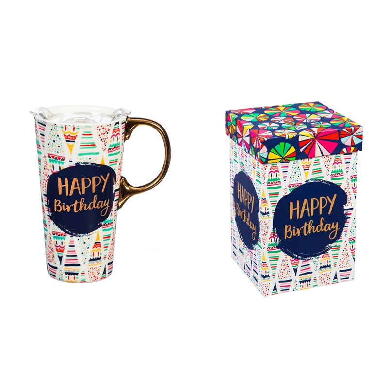 HAPPY BIRTHDAY 17oz. Ceramic Travel Mug