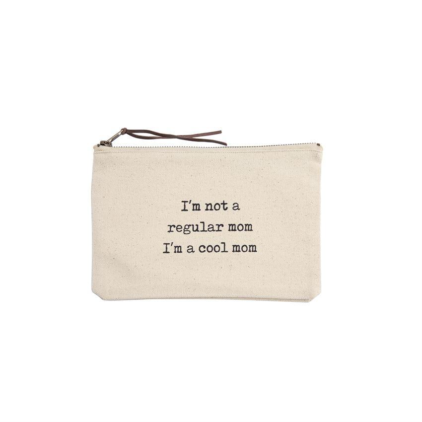 Regular Mom Cool Mom Canvas Pouch
