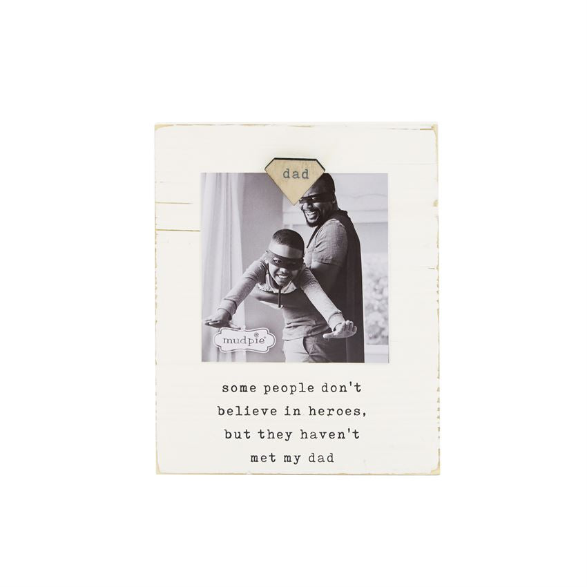 DAD MAGNETIC WOOD BLOCK PICTURE FRAME