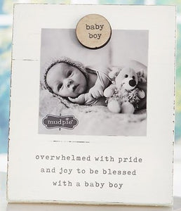 Baby Boy Magnetic Wood Frame